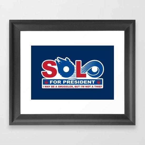 Solo for President Framed Art Print