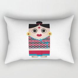 Nepali Girl Rectangular Pillow