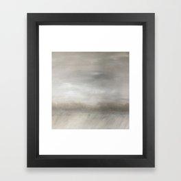 Winter shelterbelt Framed Art Print