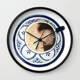 Cup of Coffee and Cream Wall Clock