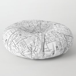 Vintage Map of Rochester NY (1901) BW Floor Pillow