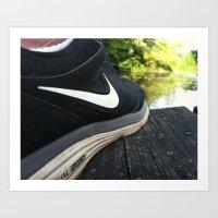 nike Art Prints featuring Nike by sdekkinga
