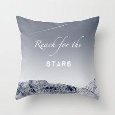 Reach for the Stars (b&w)  Throw Pillow