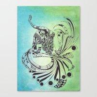 pisces Canvas Prints featuring Pisces by Heaven7