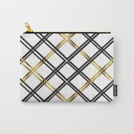 Crosshatch in Gold Carry-All Pouch