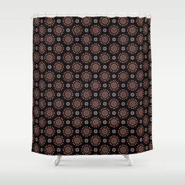 Daisy Flower Geometric Circle Pattern Shower Curtain