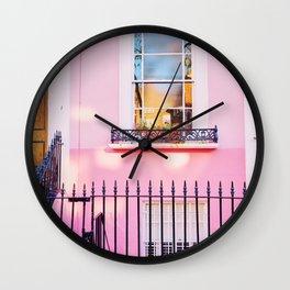Pink Window Notting Hill London England Wall Clock