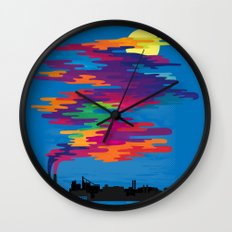 Hidden in the Smog (day) Wall Clock