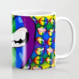 LGBTQ Rainbow Lips Snarl Coffee Mug
