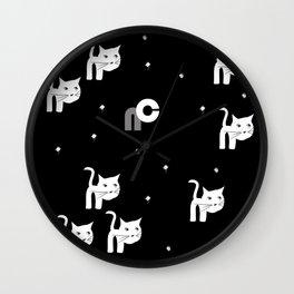 NC cat-ed Wall Clock