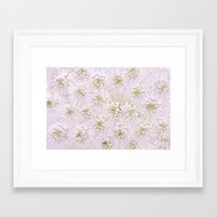 lace Framed Art Prints featuring Lace by Jacky Parker Floral Art