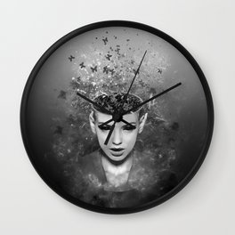 I walk alone to find the way home Wall Clock