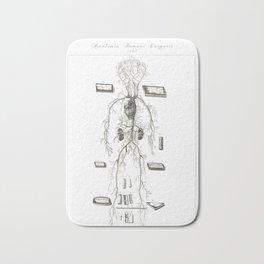 Human Anatomy Art Print VENOUS SYSTEM ARTERY Vintage Anatomy, doctor medical art, Antique Book Plate Bath Mat