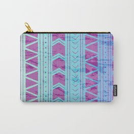 Berry Breeze Geometric Pattern Carry-All Pouch