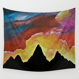 Everest Silhouette - Abstract Sky Oil Painting Wall Tapestry