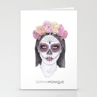 day of the dead Stationery Cards featuring Day Of The Dead by Sophiamonique