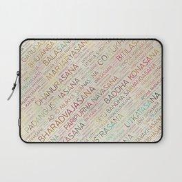Yoga Asanas / Poses Sanskrit Word Art Laptop Sleeve