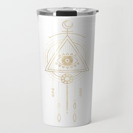 Mandala Golden Eye Geometric Tribal Travel Mug