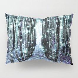 Magical Forest Lavender Aqua/Teal Pillow Sham
