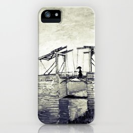 Vincent Van Gogh - Drawbridge at Arles 2 (Vintage) iPhone Case