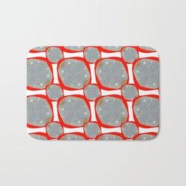 Red Organic Rings Bath Mat