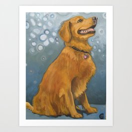 Happy dog from Calendonia Cty Art Print