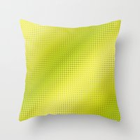 lime green Throw Pillows featuring Pattern lime green by Christine baessler