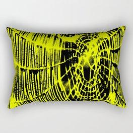 Intricate Halloween Spider Web Yellow Palette Rectangular Pillow