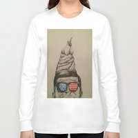 jfk Long Sleeve T-shirts featuring JFK Sundae by Hannah McKee