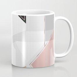 Stylish Gold and Rose Pink Geometric Abstract Design Coffee Mug