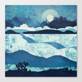 Blue Desert Canvas Print