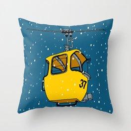 Ski lift gondola Throw Pillow