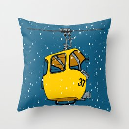 Ski lift gondola Throw Pillow