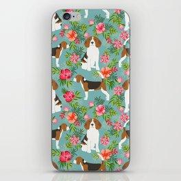 Beagle hawaiian dog pattern tropical pattern cute gifts for dog lover dog breeds iPhone Skin