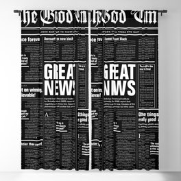 The Good Times Vol. 1, No. 1 REVERSED / Newspaper with only good news Blackout Curtain