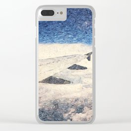 Flying over the clouds Clear iPhone Case