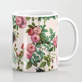 Roses With Crows Pattern Coffee Mug