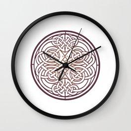 St. Patrick's Day Celtic Red Mandala #1 Wall Clock