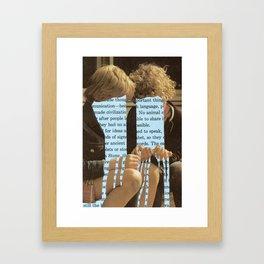 Does language flow through us or we through it? Framed Art Print