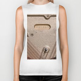 Abstract Detail Of The Inside Of A Piano Biker Tank