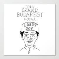 budapest hotel Canvas Prints featuring The Grand Budapest Hotel by ☿ cactei ☿