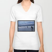 santa monica V-neck T-shirts featuring Santa Monica Surf by Willinok