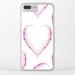 Love pattern #society6 Clear iPhone Case