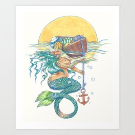 Sinking Desire Art Print