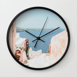 Santorini Oia Wall Clock
