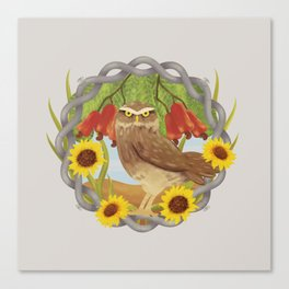 cashew and owl Canvas Print