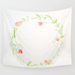 Spring Wreath I Wall Tapestry