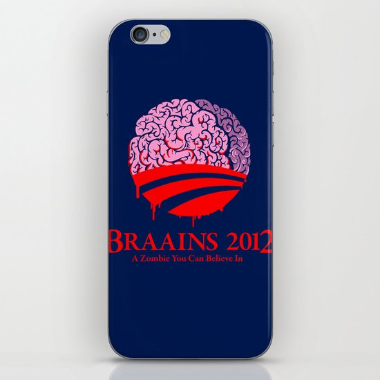 Vote Braains 2012 - A Zombie You Can Believe In iPhone & iPod Skin