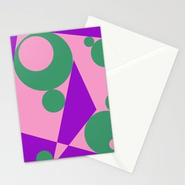 Different shapes illustration, geometric abstraction. Stationery Cards