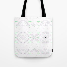 Grey Type with Colorful Filigree Tote Bag